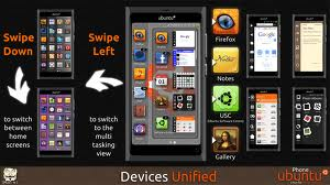 Swipe in Ubuntu mobile