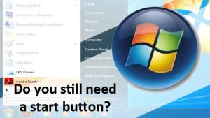 Windows 8.1 with Start Button at back