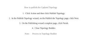 Topology Update