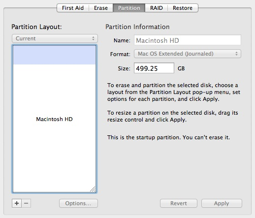 Partitioning Mac Drive